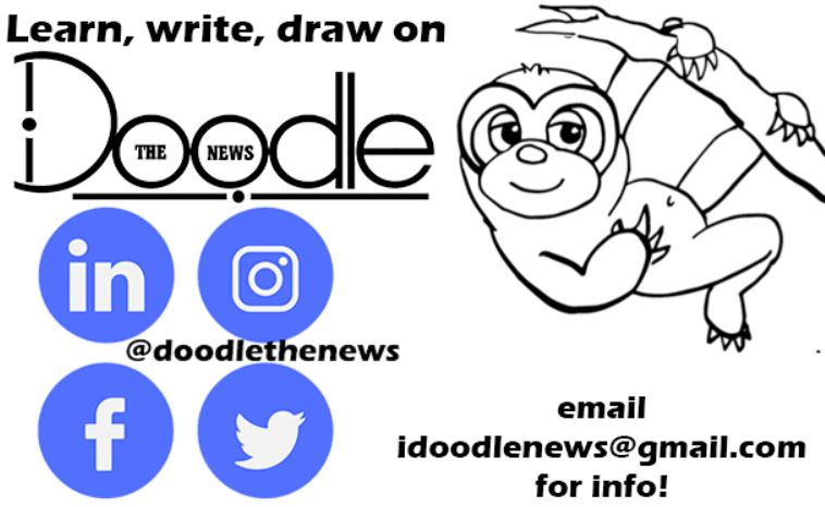 Doodle the news contact graphic
