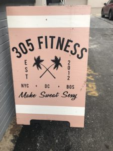 305 Fitness sign