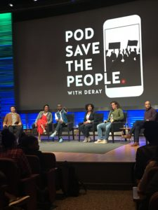 Photo of the Pod Save The People panel from the audience