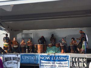 Band performance at Westcott Street Cultural Fair