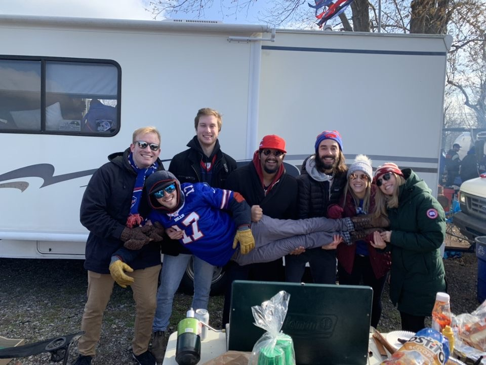 Tailgating with friends from Newhouse before the Bills vs Broncos game!